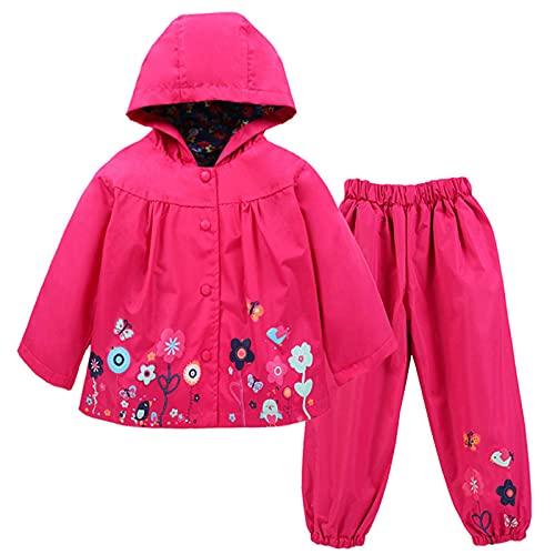 TURMIN Kinder Regenjacke Jungen Mädchen Regenanzug Regenbekleidung wasserdichte Kinderjacke Baby Kleinkind...