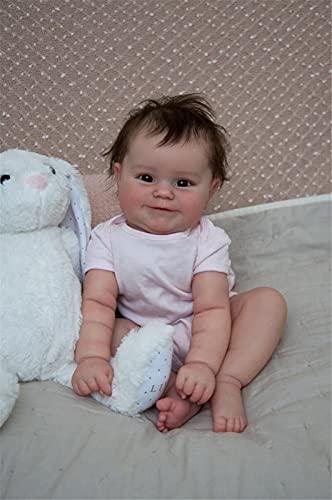 50Cm Reborn Babypuppe Neugeborenen Mädchen Baby Lebensleine Echte Weiche Touch Maddie Mit Handgewurzelten...