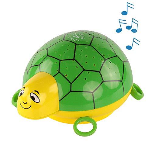 ANSMANN Sternenlicht Projektor - Schildkröte Nachtlicht mit Musik & Sternenhimmel Projektor ideal als...