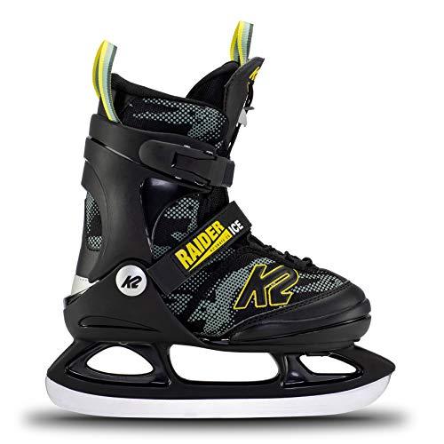 K2 Skates Jungen Schlittschuhe Raider Ice — Green - Yellow — EU: 32 - 37 (UK: 13 - 4 / US: 1 - 5) —...