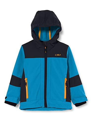 CMP Jungen Softshell Jacket with ClimaProtect WP 7.000 Technology Jacke, Blue Teal, 164