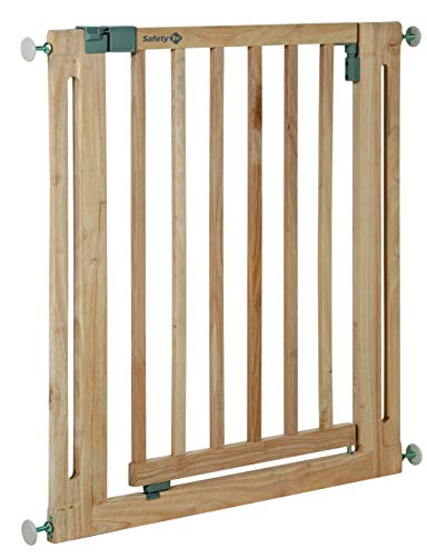 Safety 1st Easy Close Wood Treppenschutzgitter, mit Schwung schließbar, Türschutzgitter zum Klemmen ohne...