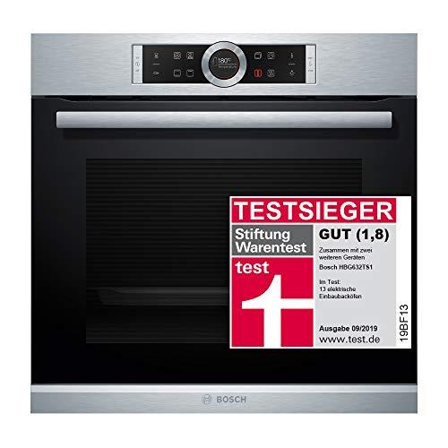 Bosch HBG632TS1 Serie 8 Einbau-Backofen / A / 71 L / Edelstahl / Klapptür / TFT-Display / 8 Beheizungsarten /...