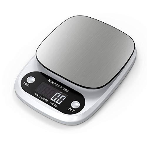 Lefun Küchenwaage Digital, Digitale Küchenwaage 0.1g/Max 5kg Digitalwaage Mit großer Präzision Gramm Waage...
