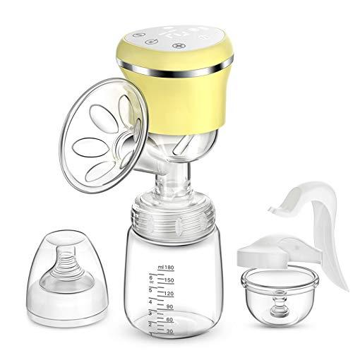 Elektrische Milchpumpe, COULAX Brustpumpe Stillpumpe Wiederaufladbare Milchpumpe 3 Modi 9 Stufen mit...