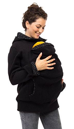 Viva la Mama Schwangerschaftsmode Umstandsjacke Tragepullover warm Jacke für Tragetuch Tragepulli - AHOI...