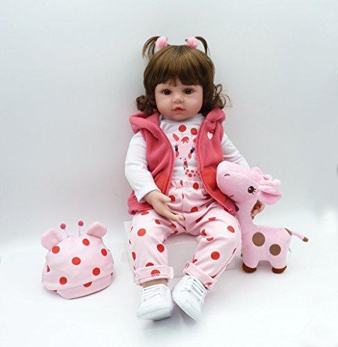iCradle Realistische Reborn Babypuppen Mädchen Weiche Silikon Vinyl Kleinkind Reborn Baby Doll Magnetisch...