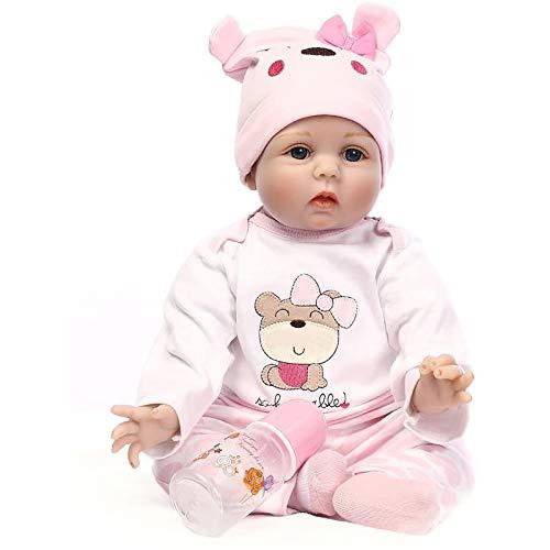 Minidiva Reborn Baby Doll, Lebensecht Reborn Puppe Mädchen Silikon Vinyl Weiches 55 cm / 22' Handgemachtes...