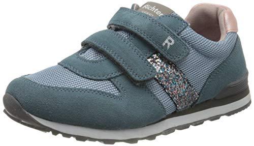 Richter Kinderschuhe Jungen Mädchen Junior Sneaker, Blau (Sky/Silver/Candy 1701), 28 EU