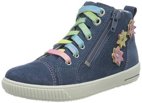 Superfit Baby Mädchen Moppy Sneaker, Blau (Blau 80), 24 EU