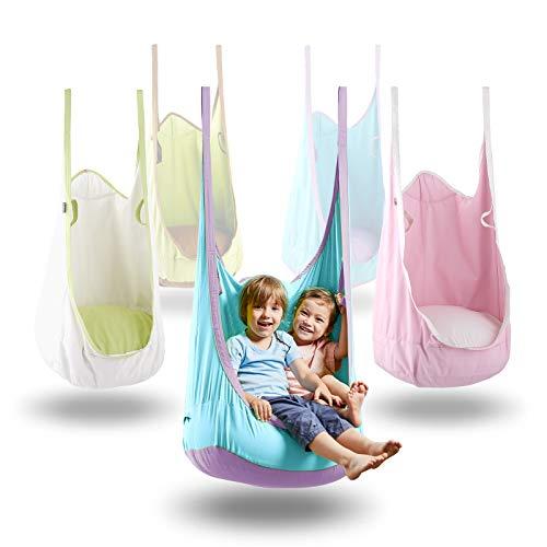 HappyPIE Hängehöhle,Hängesessel,Hängematten aus Baumwolle ideal,Indoor und Outdoor Geeignet für Kinder...