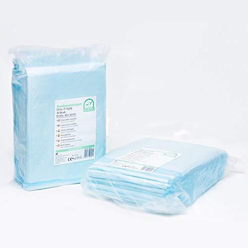 Medi-Inn Krankenunterlagen Einmalunterlagen Inkontinenzunterlagen   Farbe blau-weiß   40 x 60, 6-lagig, 100...