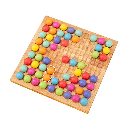 Jilijia Holzperlen Puzzle Spielzeug, Holz Clip Beads Brettspiel, Kinder Gehirn Training Brettspiel Spielzeug,...