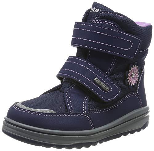Richter Kinderschuhe Mädchen Snow Schneestiefel, Blau (Atlantic/Lila 7201), 25 EU