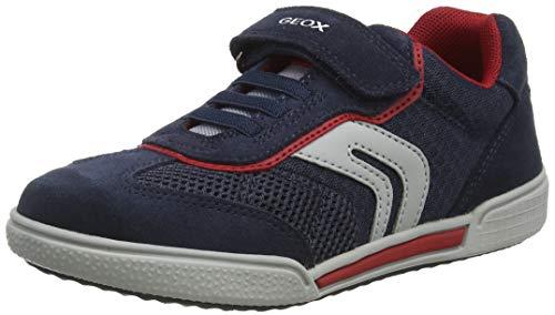 Geox Herren J POSEIDO Boy D Sneaker, Blau (Navy/Red C0735), 38 EU