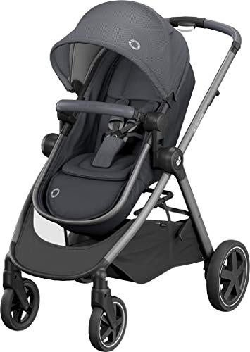 Maxi-Cosi Maxi Cosi Zelia 'Essential Black' - Urbano 2 in 1 Kinderwagen Graphit