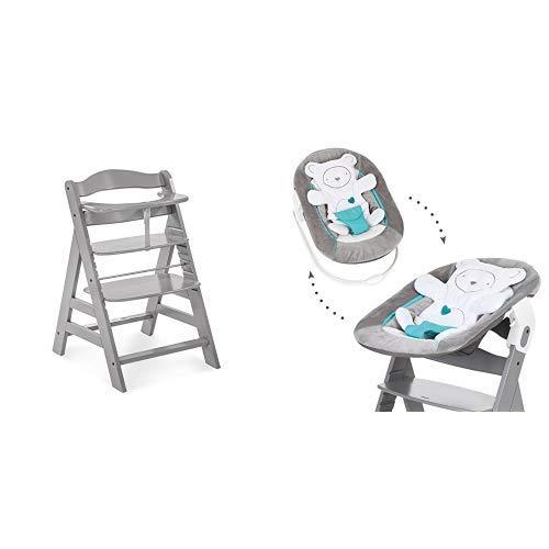 Hauck Newborn Set (2 Teilig): Alpha Hochstuhl ab 6 Monaten, mitwachsend, höhenverstellbar, bis 90 kg...