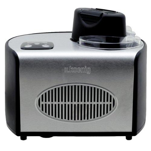 H.Koenig professionelle Eismaschine HF250 - Elektrisch - 1,5 L - 150 W - Kühlfunktion - Schnelle Zubereitung...