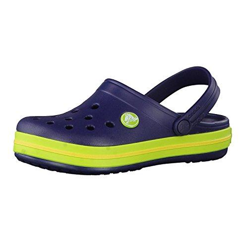 crocs Unisex-Kinder Crocband K Clogs, Navy/Volt Green, 33/34 EU