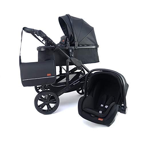 Pixini 3 in 1 Kinderwagen (California Kombikinderwagen Megaset inkl. Babywanne & Buggy & Auto-Babyschale -...