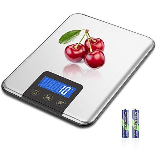MOSUO Küchenwaage Digitalwaage Professionelle Waage,15KG/1G Haushaltswaage Digital für die Küche,...