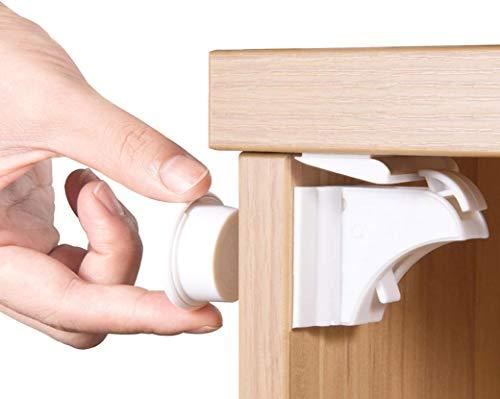 Norjews Baby Sicherheit Magnetisches Schrankschloss(20 Schlösser + 3 Schlüssel) | zum Kindersicherung...