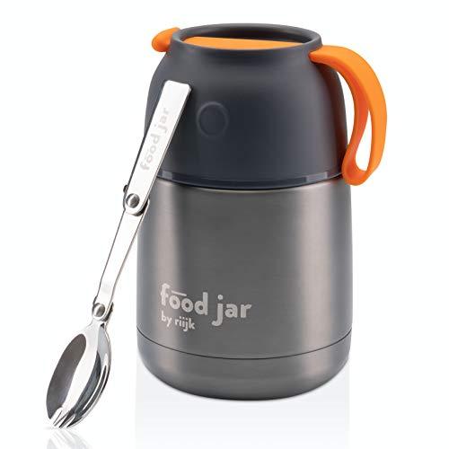 riijk Thermobehälter für Essen 450ml, Edelstahl Isolierbox für warmes Essen, Meal prep und Babynahrung