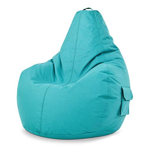 Green Bean © Cozy Beanbag, Gaming Sitzsack Sessel 80x70x90 cm, 230 Liter EPS Perlen Füllung, Indoor...