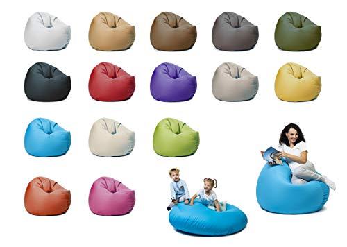 sunnypillow XL Sitzsack mit Styropor Füllung 100 cm Durchmesser 2-in-1 Funktionen zum Sitzen und Liegen...