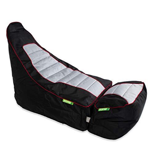 Green Bean © Zone3 2er Set - Gaming Sitzsack mit Add-On Hocker - 120x55x75 cm - 150L Füllung -...