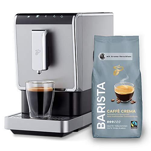 Tchibo Kaffee Vollautomat Esperto Caffè 1.1 (19 bar, 1470 Watt), Edelstahl Silber (inkl. 1Kg Barista Caffè...