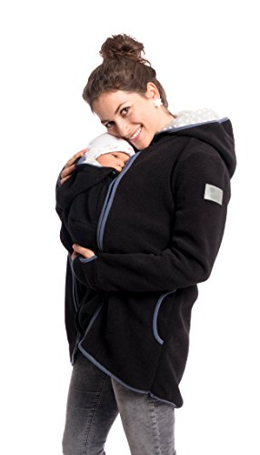 Viva la Mama 3in1 Tragejacke für Mama und Baby I Umstandsjacke Kängurujacke Allwetterjacke Damen...