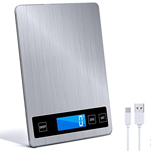 Raniaco Küchenwaage Digital Waage Küchen - Digitalwaage bis zu 15 kg nd wunderbare Präzision auf bis zu 1g...