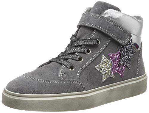 Richter Kinderschuhe Mädchen Ryana Hohe Sneaker, Grau (Ash/Silver/Cand/Stee 6301), 34 EU