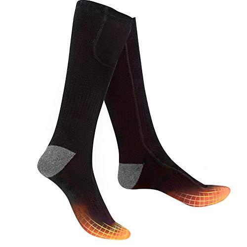Bilisder Beheizte Socken Elektrisch Thermosocken Warme Wintersocken mit 2200 mAh Batterie 3 Dateien Temperatur...
