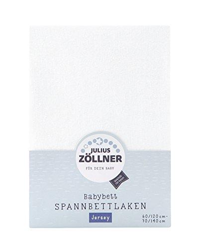 Julius Zöllner 8320113100- Spannbetttuch Jersey für das Kinderbett, Größe: 60x120 / 70x140 cm, Farbe:...