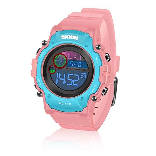 ATOPDREAM Digitaluhr Kinder, Spielzeug ab 5-15 Jahren für Jungen Wasserdicht Mit LED-Licht Geschenke Mädchen...