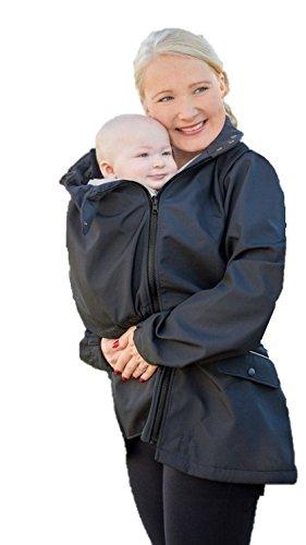 Manduca by MaM Two-Way-Jacket, Tragejacke, Trageweste und Umstandsjacke, Abnehmbare Ärmel, mit Babyeinsatz...