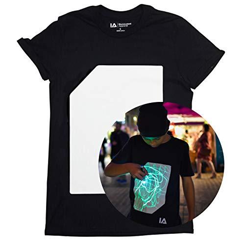 Interaktive Leucht T-Shirt (Schwarz/Grün, 7-8 Jahre)