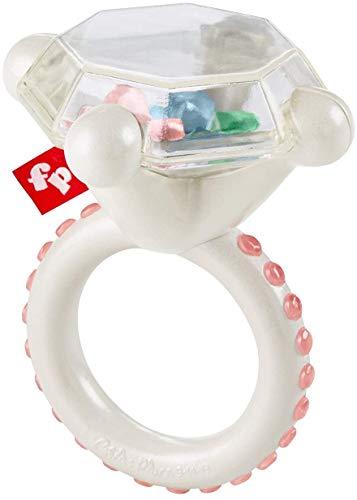 Fisher-Price GJD35 - Diamant Beißring, Babyrassel und Beißspielzeug, ab 3 Monaten
