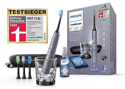 Philips Sonicare DiamondClean Smart Schallzahnbürste HX9924/43 mit 5 Putzprogrammen, 3 Intensitäten,...