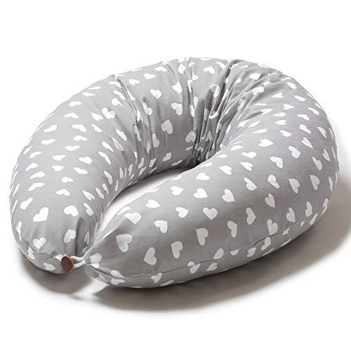 Niimo Stillkissen Schwangerschaftskissen zum schlafen groß XXL erwachsene mit Bezug aus 100% Baumwolle für...