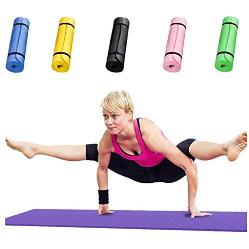 MOIKA_Bekleidung Yogamatte rutschfest Gymnastikmatte Trainingsmatte Übungsmatte mit Tragegurt, 60 x 25 x 1,5...