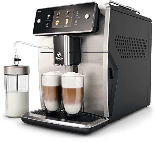 Saeco SM7683/10 Xelsis Kaffeevollautomat 15 Kaffeespezialitäten (Touchscreen, 6 Benutzerprofile), 18/8,...