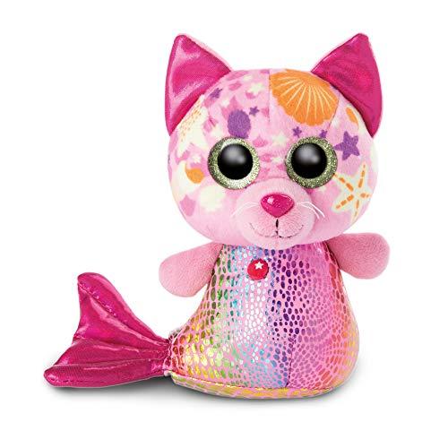 NICI 46825 Original-Glubschis Meerjungfrau Katze Aqua-Marie 15cm-Kuscheltier Augen – Flauschiges Plüschtier...