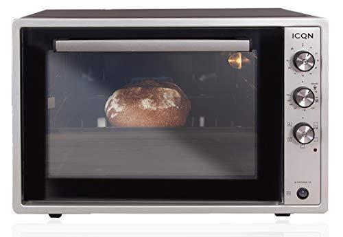 ICQN 70XXL Mini-Öfen | 1800 W | Mini-Backofen mit Innenbeleuchtung und Umluft | Pizza-Ofen | Doppelverglasung...