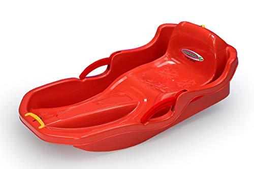 JAMARA 460538 - Snow Play Bob Comfort 80 cm mit Bremse – Lenken durch Bremshebel, aerodynamische Bauweise,...