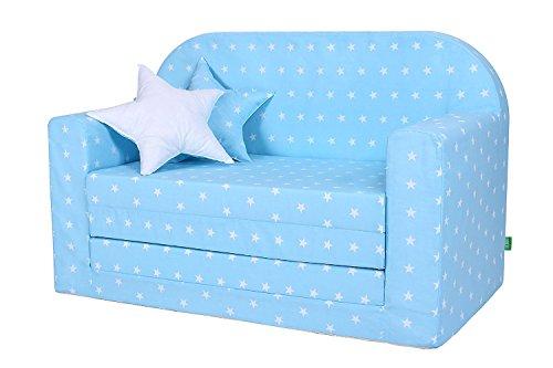 LULANDO Classic Kindersofa Kindercouch Kindersessel Sofa Bettfunktion Kindermöbel zum Schlafen und Spielen,...