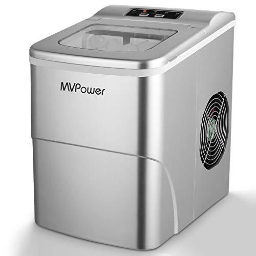 MVPOWER Eiswürfelbereiter/Eiswürfelmaschine / 12kg Eiswürfel (26 lbs) / Produktionszeit 6-8 Minuten / 2...
