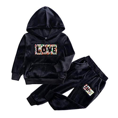 VICKY-HOHO Günstige Kinderbekleidung Sommer, 3-4 Jahre Kleinkind Kinder Mädchen Junge Fleece Warme...